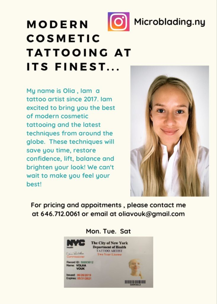 Modern cosmetic tattooing at its finest by Olia. Here  is my contact info.