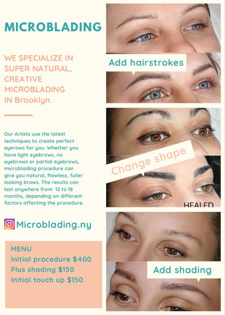 Microblading: We specialize in super natural, creative microblading in Brooklyn.